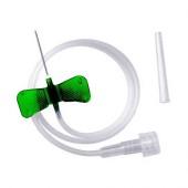 Катетер-Бабочка для вливания в малые вены G-21 (зелёный)