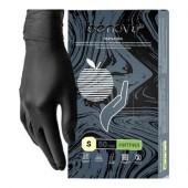 Перчатки смотровые нитриловые Benovy нестерильные неопудренные черные размер S (50 пар/уп)