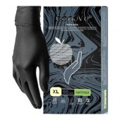 Перчатки смотровые нитриловые Benovy нестерильные неопудренные черные размер XL (50 пар/уп)