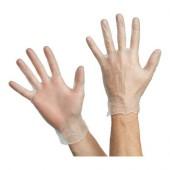 Перчатки смотровые виниловые проз/голуб размер S (50 пар в упаковке)