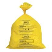 Пакеты для утилизации медицинских отходов, 33х30см класс Б (желтый) (100шт/уп)